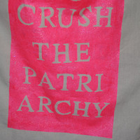 "Feminist ""Crush the Patriarchy"" Canvas Tote Bag"
