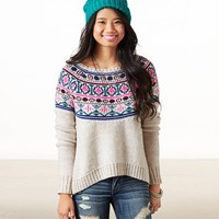 AE Fair Isle Crew Sweater | American Eagle Outfitters