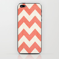 Vintage Coral Chevron iPhone & iPod Skin by Ann B.
