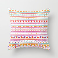 NATIVE BANDANA Throw Pillow by Nika
