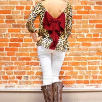 Whole Wild World Blouse - Burgundy