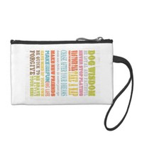 Inspirational Art - Dog Wisdom. Coin Wallet