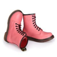 ZLYC Pink Leather Casual Ankle Boots Short Boots
