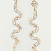 Medusa's Minions Rhinestone Snake Earrings