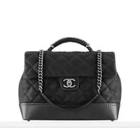 Iridescent grained calfskin flap... - CHANEL