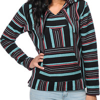 Senor Lopez Girls Black, Teal & Coral Poncho at Zumiez : PDP