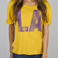 NBA Los Angeles Lakers Slam Dunk Tee - Women's Collections - NBA - All - Junk Food Clothing