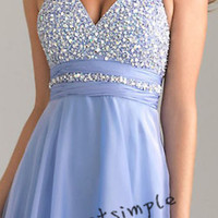 New light blue long prom dress evening dress by lifeisnotsimple