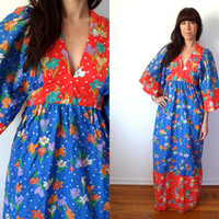 Vintage 1960's Hippie Maxi Dress Young Innocent By Arpeja Prairie