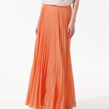 MAXI PLEATED SKIRT - Skirts - Woman - ZARA United States