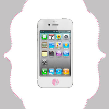 Monogram Home Button Decal by CalisCases on Etsy