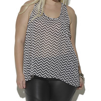 Lattice Back Chevron Tank | Shop Jr. Plus at Wet Seal