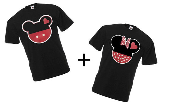Mickey And Minnie Couples Shirts Mickey and Minnie Coup...