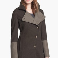 Kenneth Cole New York Asymmetrical Wool Blend Military Coat | Nordstrom