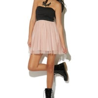 Party Dress With Tulle Skirt | Shop Dresses at Wet Seal