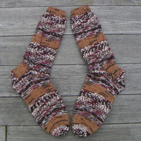 Washable Wool Socks, Hand Knit