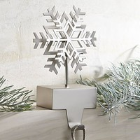Snowflake Silver Stocking Hook