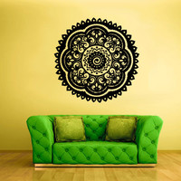 Wall Decal Vinyl  Mural Sticker Art Decor Bedroom Flowers Mandala Menhdi Curly Pattern  (z2053)