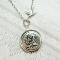 Tree of Life Locket by birdzNbeez on Etsy