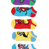 Marvel Universe Heroes Kawaii No-Show Socks | Hot Topic