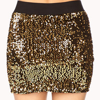 Showstopper Sequined Mini Skirt