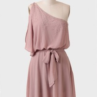 Beauty Speaks One-shoulder Dress