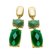 Emerald Gemmed Earrings
