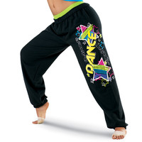 Multicolor Star Print Dance Sweats - Urban Groove