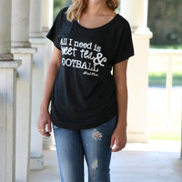 All I need is sweet tea and football tee | Hazel & Olive
