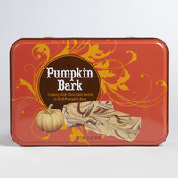 Milk Chocolate Pumpkin Bark Tin | World Market