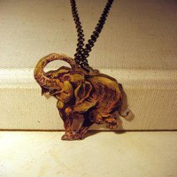 The Dancing Elephant Necklace by sodalex on Etsy