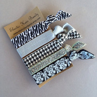 The Angelina Hair Tie-Ponytail Holder Collection - 5 Elastic Hair Ties by Elastic Hair Bandz on Etsy