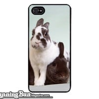 Sweethearts Pair of Netherland Dwarf Rabbits iPhone 5/5s iPhone 4/4s Case - Fine Art Photography