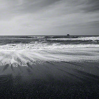 Beach Ocean Photo black &amp; white waves sky contrast by ImagesByCW