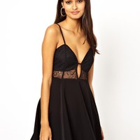 Oh My Love Cami Skater Dress with Lace Cup