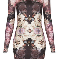Petite Mirror Bloom Bodycon Dress - New In This Week  - New In