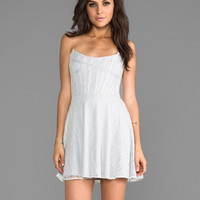 For Love & Lemons Corset Mini Dress in White