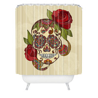 DENY Designs Home Accessories | Valentina Ramos Sugar Skull Shower Curtain