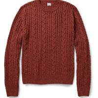 Edwin Oiler Flecked Cable-Knit Sweater | MR PORTER