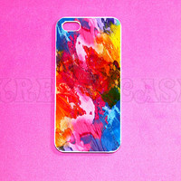 iPhone 5c Case, iPhone 5 case, Water Color Paint iPhone 5c Case, iPhone 5c Cover, Unique iPhone 5c Case