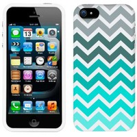 Apple iPhone 5s Chevron Grey Green Turquoise Pattern Phone Case Cover