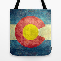 Colorado State Flag Tote Bag by Bruce Stanfield
