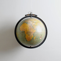 Vintage 1940s Classroom Suspension Globe