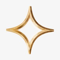 Poketo Japanese Brass Trivet Star