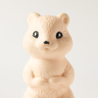 Vintage toy ground squirrel Soviet rubber toy suslik bath toy European ground squirrel cream tone