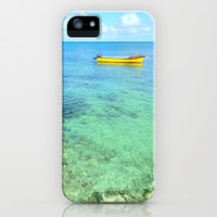 Exotic Blue Lagoon Indian Ocean Coral Reef Seascape iPhone & iPod Case by Bluedarkat Lem