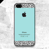 iPhone 5 case  Tiffany Teal and Leopard Pattern cases by evoncase