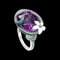 White Gold Amethyst Diamond Ring G34LX400 - Piaget Luxury Jewelry Online