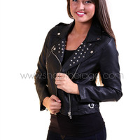 Studded Moto Jacket {Black} | The Rage