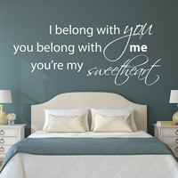 THE LUMINEERS 'Ho Hey' Song Lyrics Wall Decal - sticker vinyl quote words song